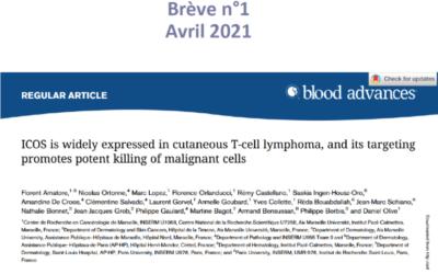 ICOS est fortement exprimé dans les lymphomes T cutanés épidermotropes et son ciblage permet l'inhibition des cellules tumorales